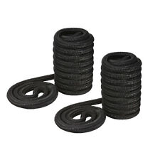 """New TWO 25'x3/4"""" Dock Lines, Double Braided (Black), Mooring, Docking"""