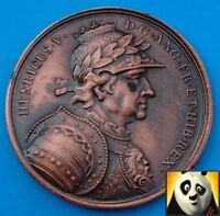 Bronze Finish Modern Medal Coin King Henry V with Relief Details Medallion