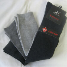 3 Pair Men's Knee Socks with Cotton And Comfort Band 3 Grey Tones 39 To 46