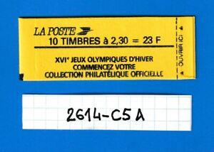 FRANCE CARNET  MARIANNE de BRIAT 2614-C5A Conf. 6 de 1989 JO d'HIVER (VOIR SCAN)