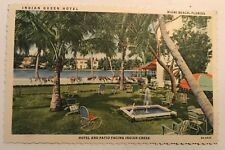 Indian Queen Hotel Postcard Miami Beach Florida 1930s Linen