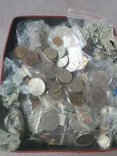More details for big job lot 9+kg mixed uk and world currency coins in biscuit tin - charity lot