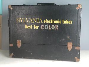 Vintage Sylvania COLOR !! Radio TV Repairman Vacuum Tube Caddy Case Tool Box