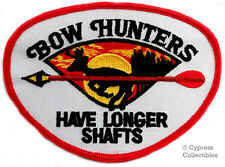 BOW HUNTER iron-on PATCH arrow deer hunting HUMOR SHAFT embroidered NOVELTY GIFT