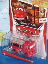 DISNEY PIXAR CARS RED FIRE TRUCK DELUXE #3/11 WHEELS WELL MOTEL BRAND NEW & RARE