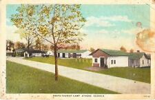 1926 ATHENS, GA, BRAYS TOURIST CAMP, AUTO CAMP POSTCARD