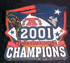 NEW ENGLAND PATRIOTS 2001 AFC CONFERENCE CHAMPS Comm Series Pin Willabee & Ward