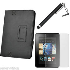 "Black Multi Function Cover Case Stand Protector for Kindle Fire HD 7"" Tablet"