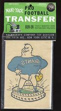 1960's NFL Mani-Yank Pro Football Transfer New York Giants NRMT