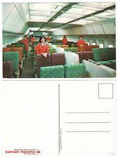 CATHAY PACIFIC L1011 CABIN CREW INTERIOR AIRLINE ISSUE POSTCARD TRISTAR CX