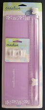 "Fiskars Creative Works 12"" Paper Trimmer Purple Triple Track Butterfly Blade NEW"