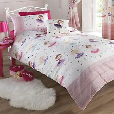 BALLERINA DUVET COVER SET NEW PINK GIRLS BEDDING