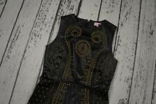 VERSACE H&M WOMENS DRESS LEATHER 100% AUTHENTIC SIZE EUR 38 US 8 M
