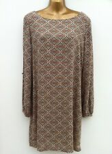 BLANCO Cold Shoulder & Arm Long Split Sleeve Shift Dress Size M UK 12 WORN ONCE