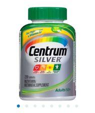 Centrum Silver Multivitamin Supplement Adult 50+ men & women 220 tablets EX 1/19