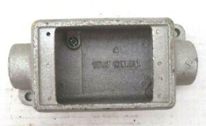 Cast Iron 1/2 Pipe FSC-1 15.8 Cu inch Single Gang Device Box, FSC1-15.8