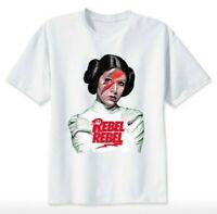 Princess Leia Rebel T-shirt David Bowie Star Wars Gift Unisex Men Women Adult