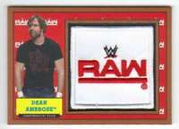 2017 Topps Heritage WWE Wrestling Commemorative Patch Bronze /99 Dean Ambrose