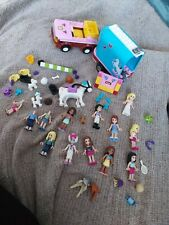 Selection of Lego Friends figures horse carrier & jeep car spares