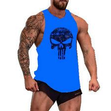 UK Punisher Skull Men Gym Muscle Shirt Tank Top Bodybuilding Sport Fitness Vest