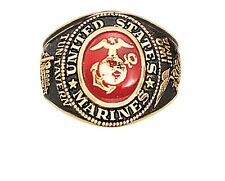 MARINE CORPS RUBY MILITARY GOLD USMC  RING ALL SIZES 8 9 10 11 12 13  SHIP FREE