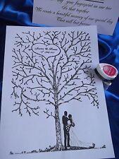Wedding Fingerprint Tree A3 plus ink pads PERSONALISED