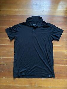 Smartwool Merino Sport 150 Short Sleeve Polo Black Men's Medium