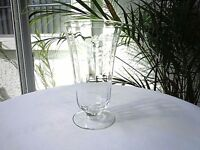 Libbey Rock Sharpe Floral & Sway c 1940's Pattern Clear Crystal Iced Tea Glass