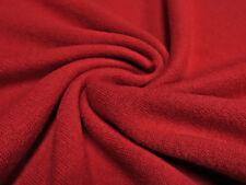 Stoffreststück 35x140cm Ital. Strickstoff 100% Merino Merinostrick Wolle uni rot