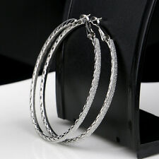 6CM Fashion Hoop Round Dangle Earring Women Crystal Diamante Rhinestone Large