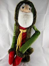 "Father Christmas Santa 16"" Doll 1999 K&M International Hook Loop Hands long arms"