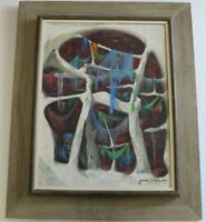 JAMES VANCE MID CENTURY ABSTRACT PAINTING MODERNIST CALIFORNIA EXPRESSIONIST AWS