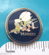 SEABEES  - hat pin , lapel pin , tie tac , hatpin GIFT BOXED cb