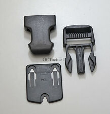 """Duraflex Mojave 1"""" Side Squeeze Pouch Clip Side Release Buckles (10 Pack) Black"""