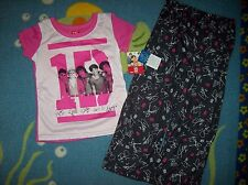 1 Direction Sleepwear 2pc Pajama Set Girls Size 4/6 Signature One Direction NWT