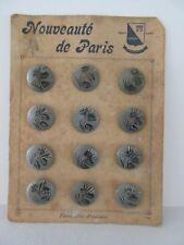 12 BOUTONS EN BOIS diam 20 mm SUR PLAQUE NOUVEAUTE DE PARIS : LE BOUTON PARISIEN
