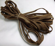 """4 strips of Suede leather Lace, 70"""" Leather Lacing, Brown Leather Strips"""