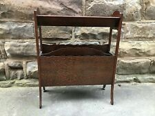 ART DECO MAGAZINE RACK / BOOK TROUGH: WOOD - LARGE - MADE IN SCOTLAND - VINTAGE