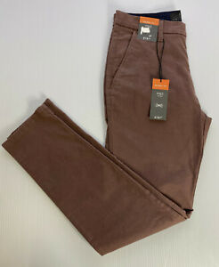 """M&S Mens Mauve SKINNY FIT STRETCH Cotton Chino Trousers W40"""" L29"""" Short R£19"""