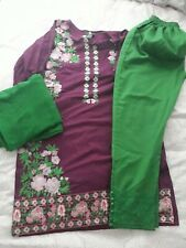 3 piece Shalwar kameez stitched size medium