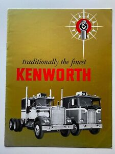 KENWORTH trucks Covers the field vintage dealers brochure 1966 earthmoving