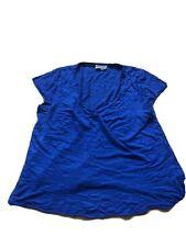 American Vintage T-Shirt Blue M V Neck Ladies