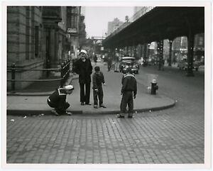 Original '60s Alfred & Betty Statler New York City Street Dice Candid Photograph