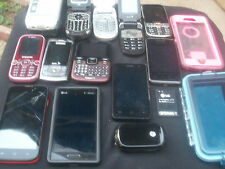 BIG LOT OF USED PHONES  SMART CELL PHONES  SAMSUNG LG OTTER BOX MORE MOST WORK