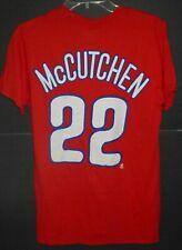PHILADELPHIA PHILLIES ANDREW McCUTCHEN #22 MENS SMALL S RED MAJESTIC SHIRT NEW