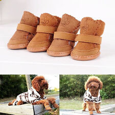 Winter Small Dog Boots Anti-Slip Puppy Shoes Pet Dog Protective Snow Booties SYY