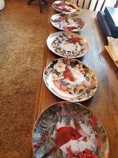 "5 Franklin Mint Collector Plates ""Cardinals in the Holly"" Theresa Politowicz"