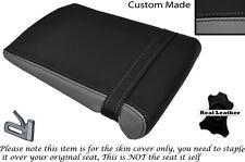 GREY & BLACK CUSTOM FITS YAMAHA 1000 YZF R1 98-99 REAR LEATHER SEAT COVER