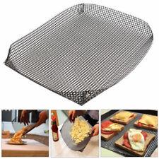 Non-stick Chip Mesh Oven Baking Tray Basket Grilling Pan Sheet Crisper Reusable