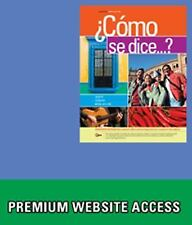 Bundle: Como Se Dice... ?, Enhanced, 10th + Premium Web Site, 3 Terms (18...